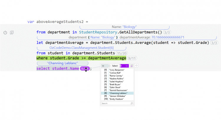 Even more powerful LINQ debugging, now with Query Syntax