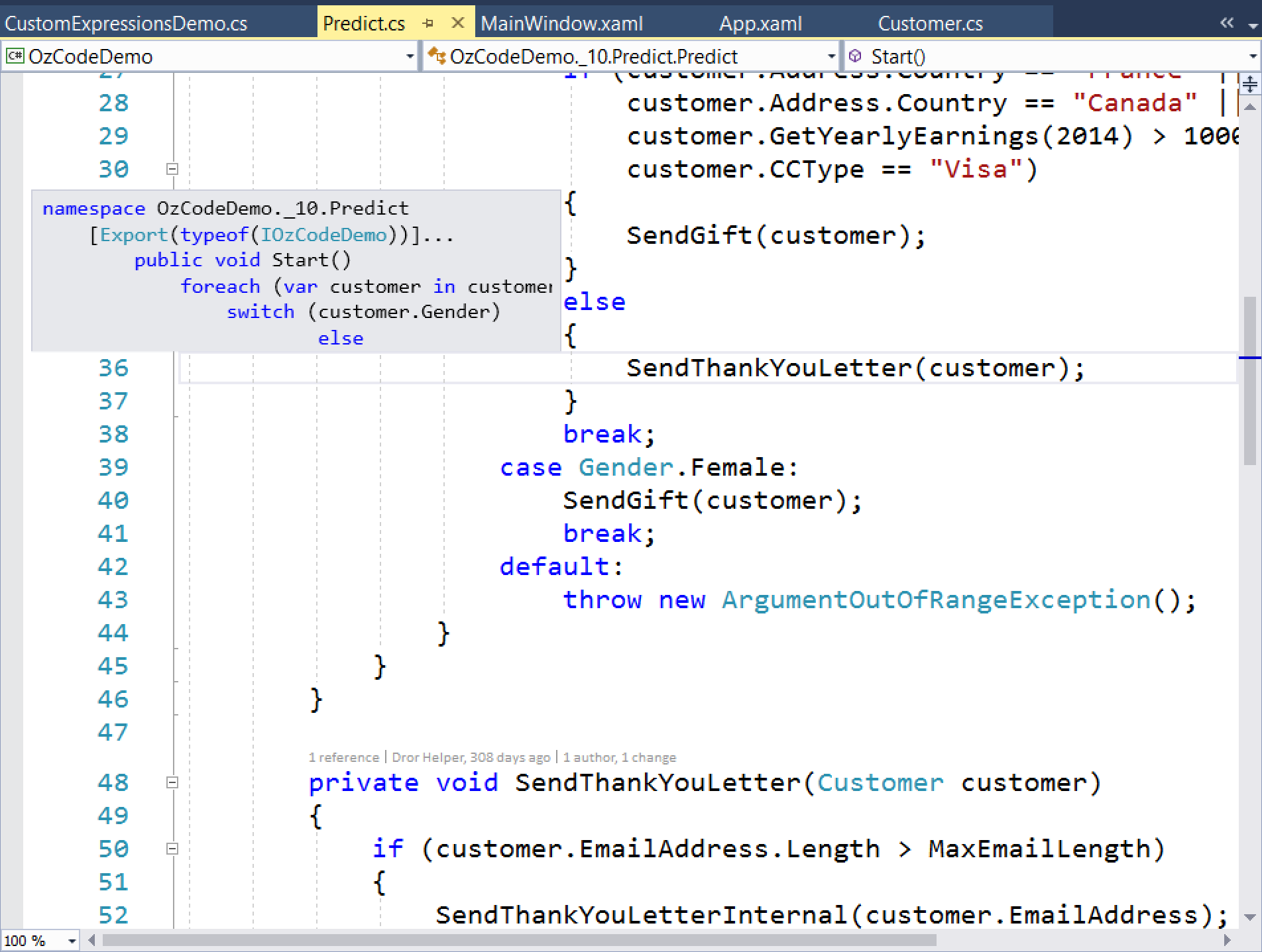 First Impressions of Visual Studio 2017 RC | OzCode