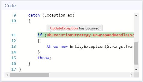 Code panel - Ozcode