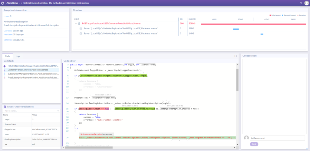 Ozcode Production Debugger Full Runtime Environment