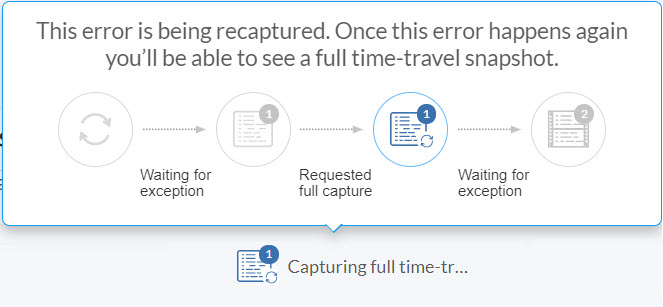 Capturing Full Time-Travel status - Ozcode