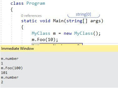 Visual Studio Immediate Window - Side Effects - Ozcode