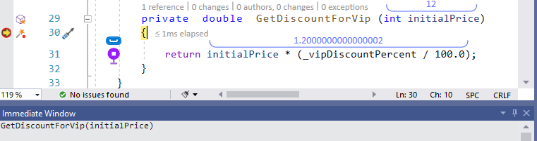 Visual Studio Immediate Window - Debug Any Method - Ozcode