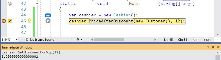 Visual Studio Immediate Window - Method Access Rules Don't Apply- Ozcode