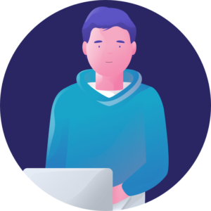 Person With Laptop Icon