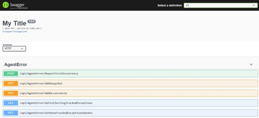 Ozcode Server Swagger - Ozcode