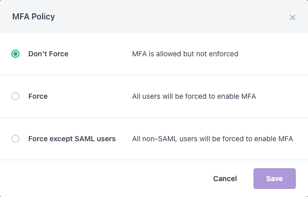 Ozcode Live Debugger - MFA Policy